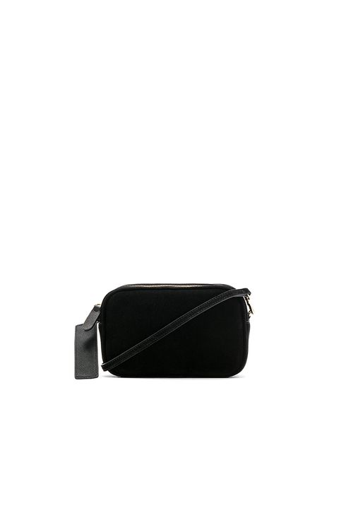 the daily edited Suede Mini Crossbody Bag