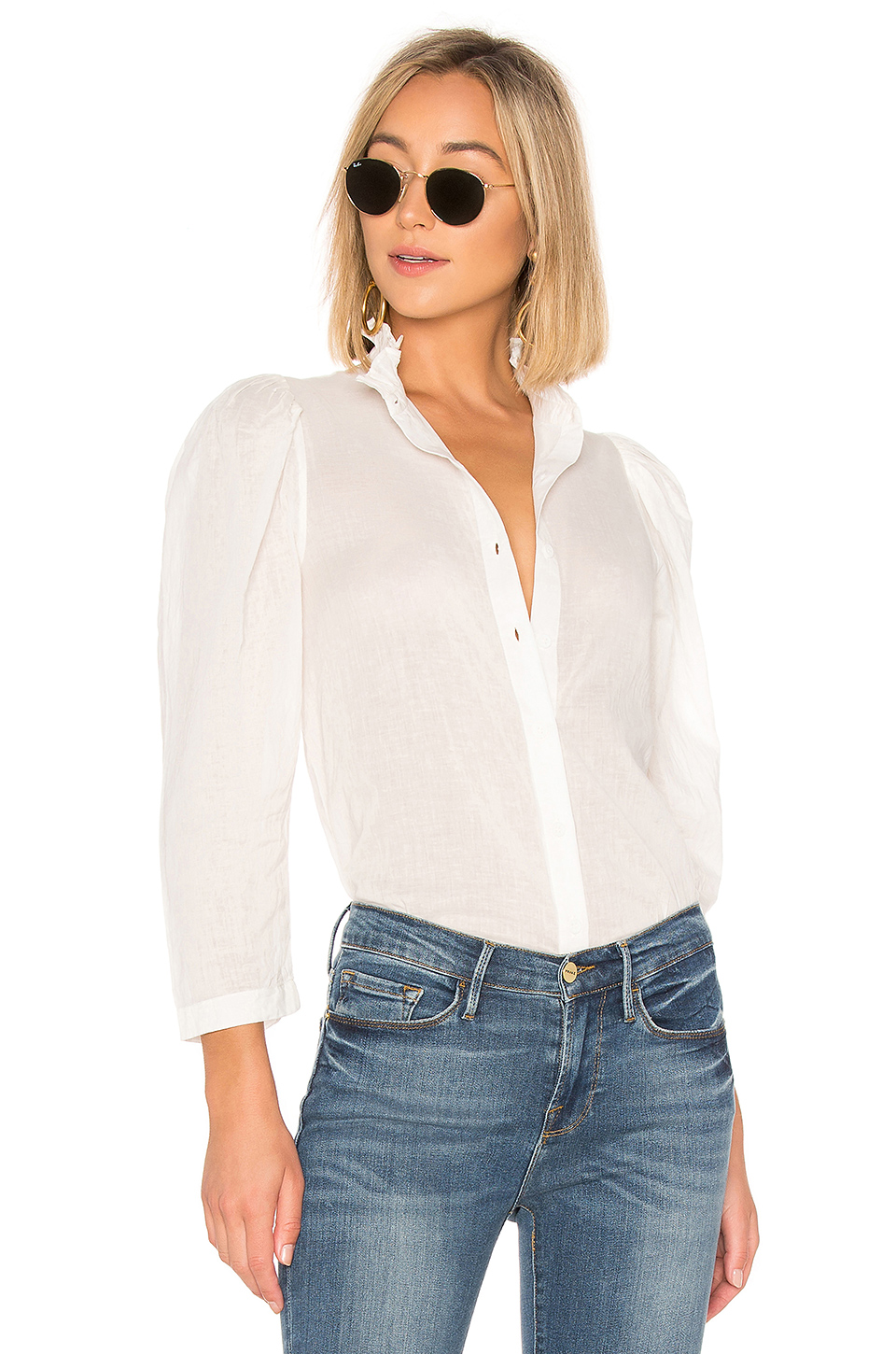 APIECE APART Marijn Button Up Blouse