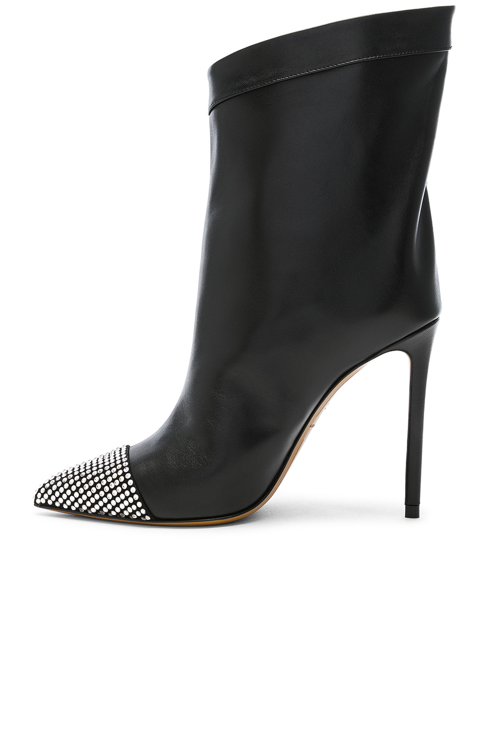 Alexandre Vauthier Leather Cha Cha Booties