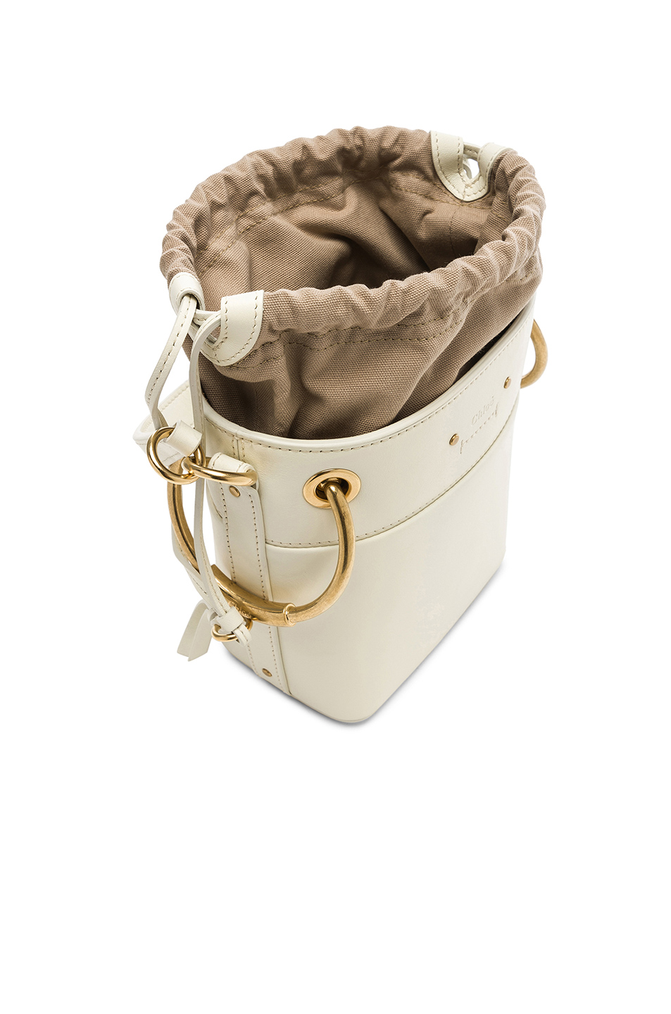 Chloe Mini Roy Calfskin Bucket Bag