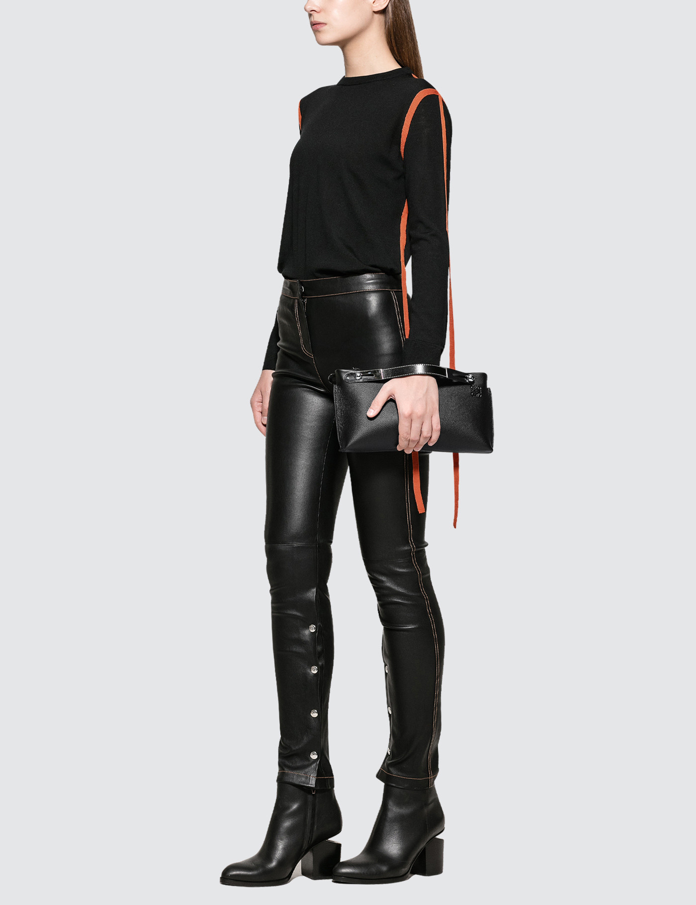 Loewe Lambskin Leather Leggings
