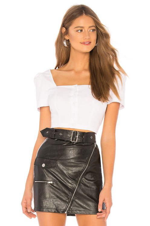 About Us Sandra Poplin Button Up Top