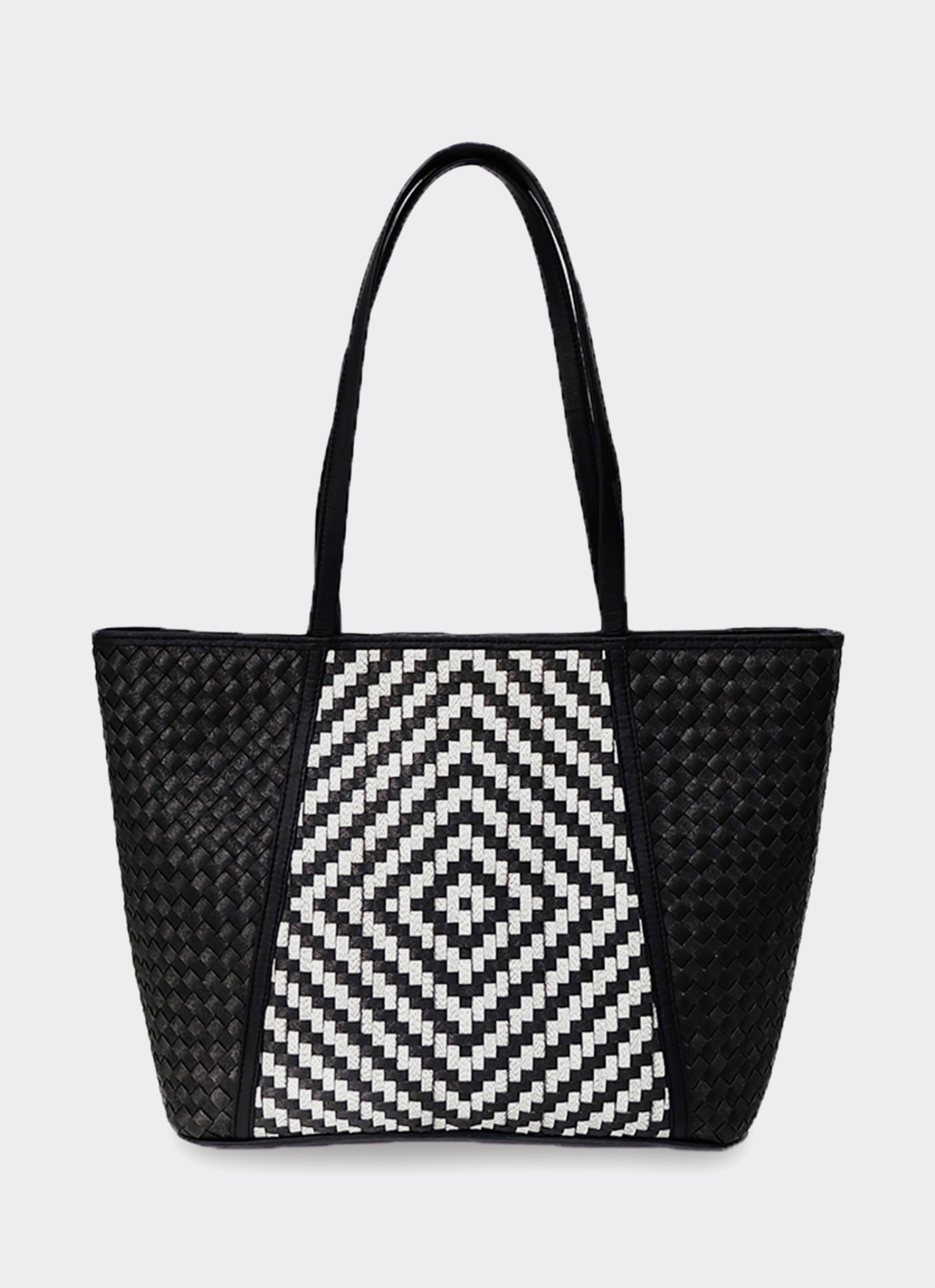Chameo Couture Black & White Peony Shoulder Bag