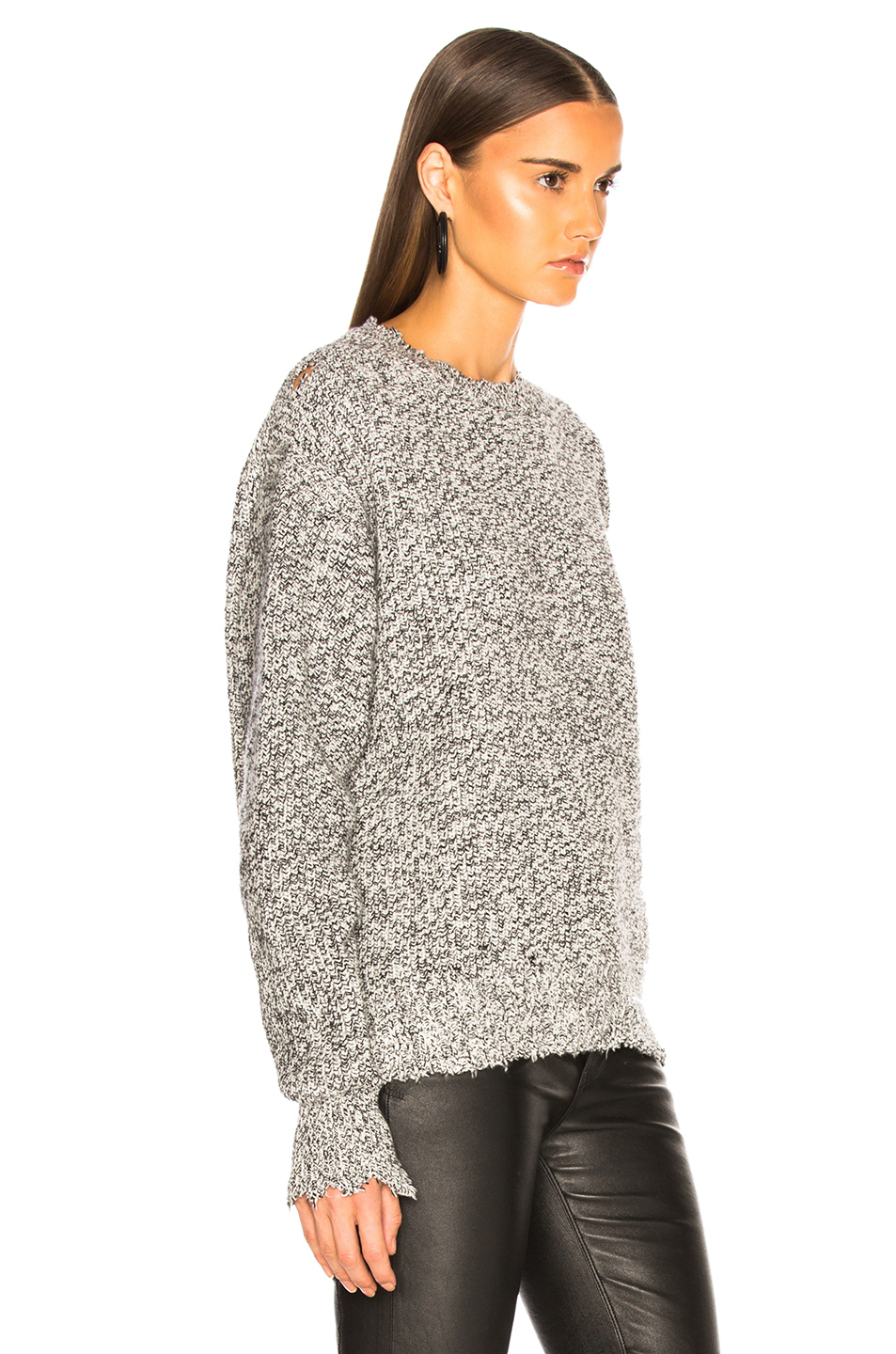 3feb421a153a1 Buy Original Helmut Lang Distressed Relaxed Long Sleeve Crew at ...