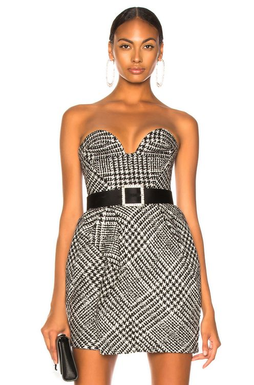 Carmen March Checked Sweetheart Top