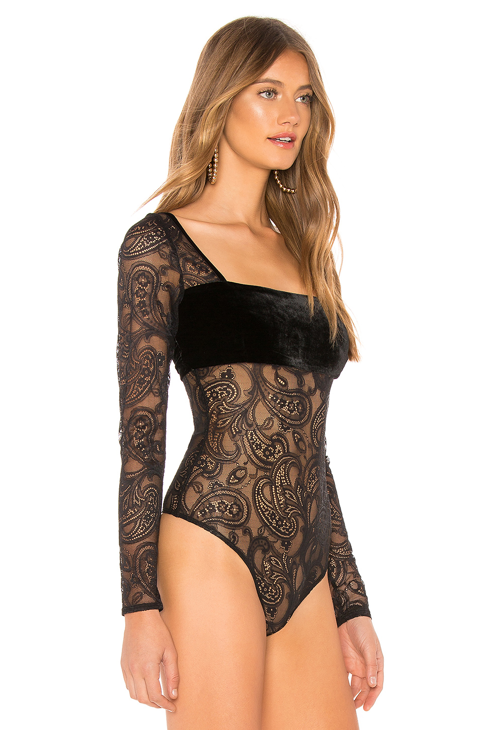 For Love & Lemons Romy Long Sleeve Bodysuit