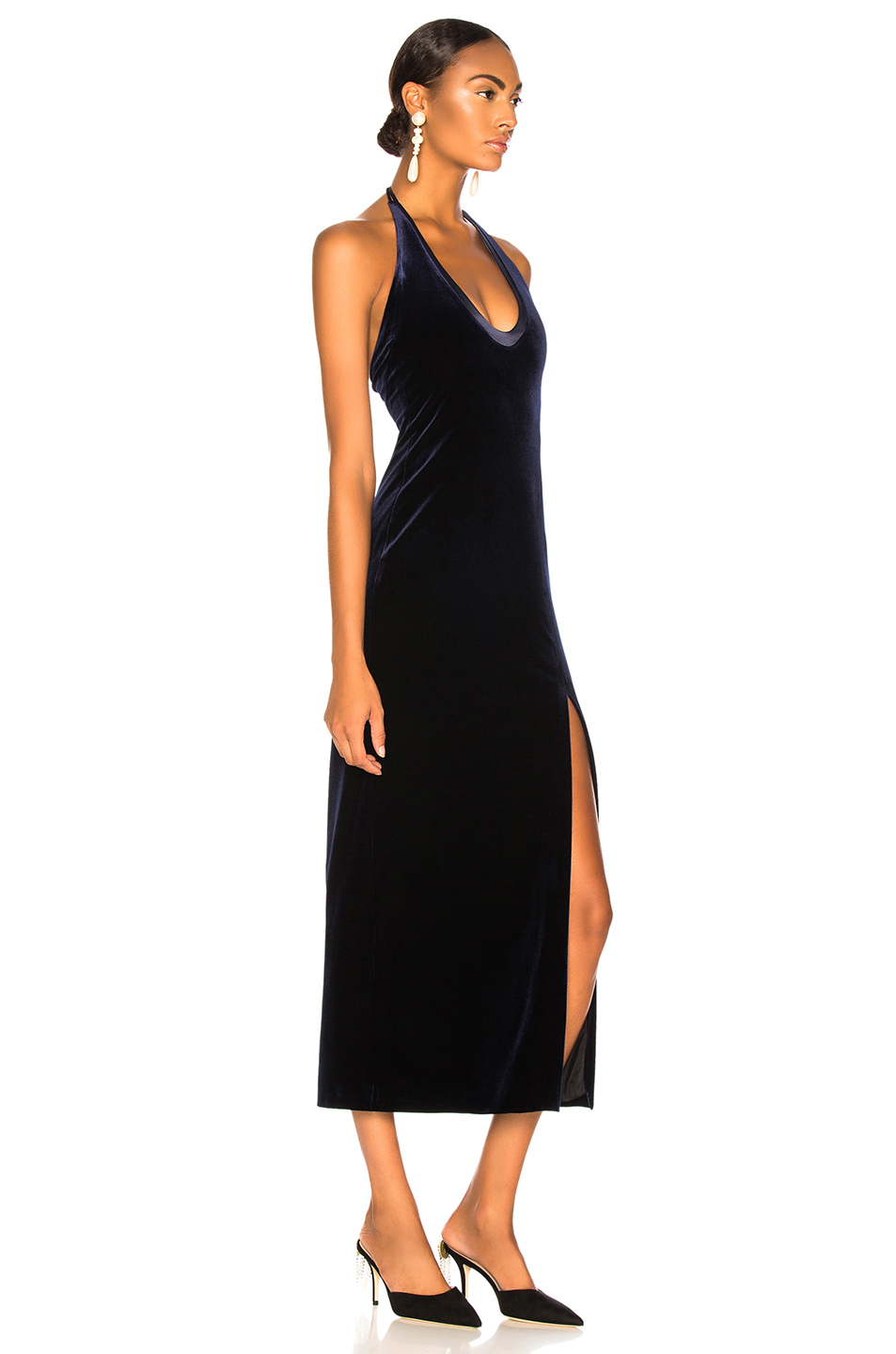 GALVAN Velvet Ellipse Dress