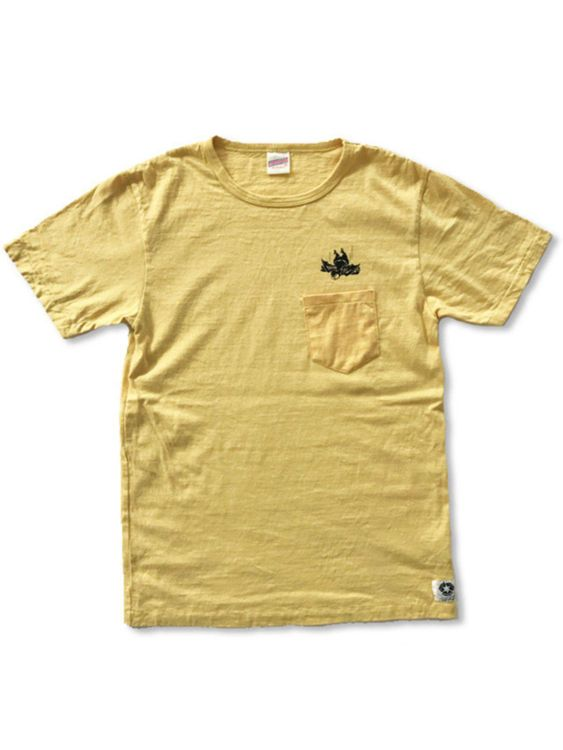 Free Rage Free Rage Recycled Cotton Pocket Tee Flying Fatman Yellow