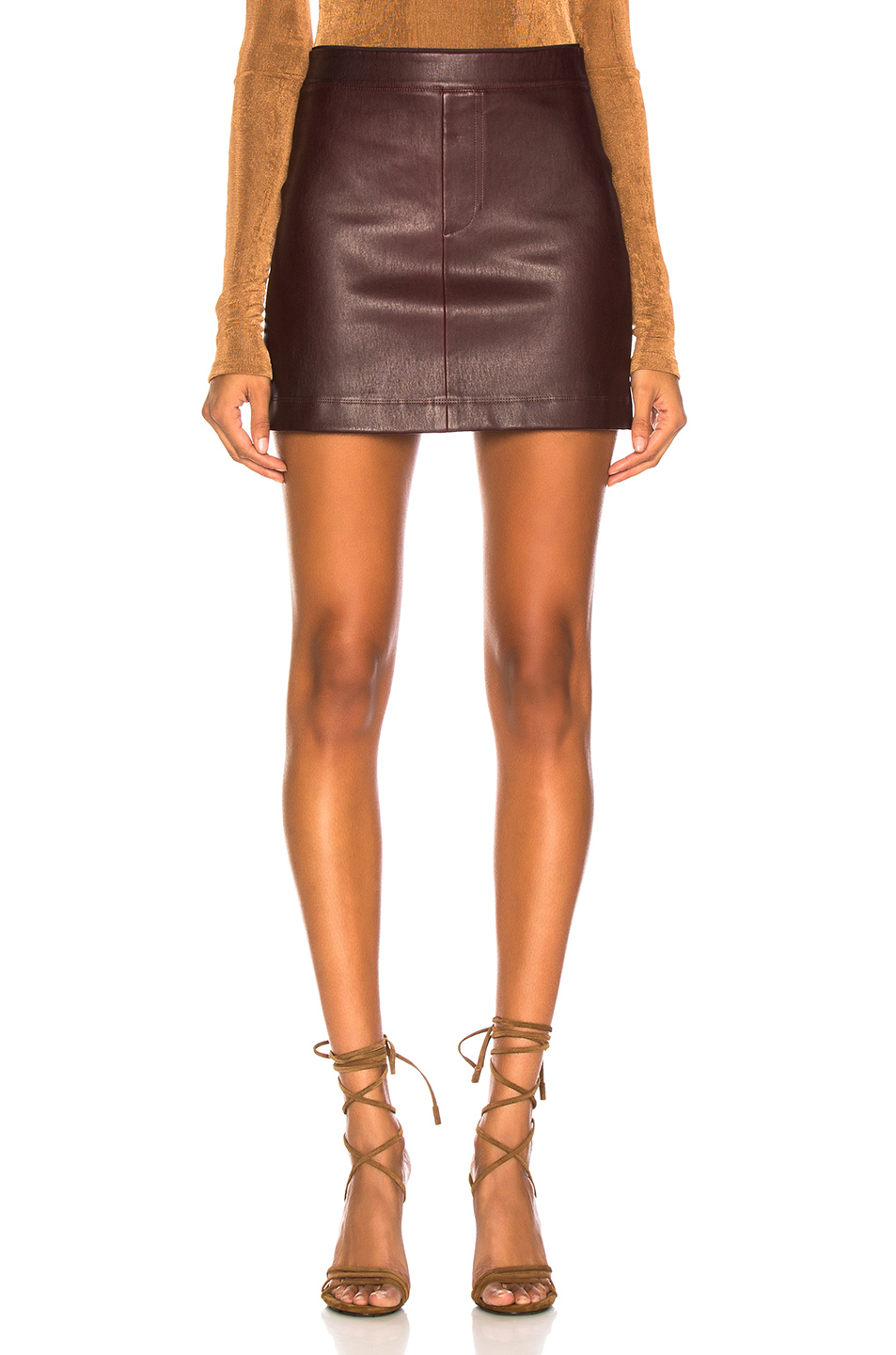 e50415ce30a5 Buy Original Helmut Lang Stretch Leather Mini Skirt at Indonesia ...
