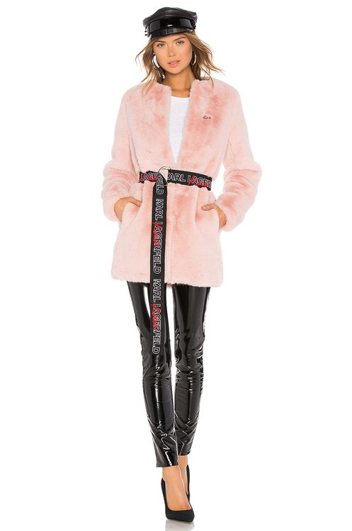 KARL X KAIA Faux Fur Coat