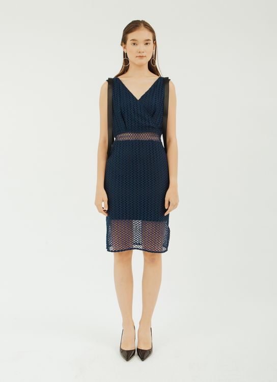 NADIYA Dark Blue Hailey Dress