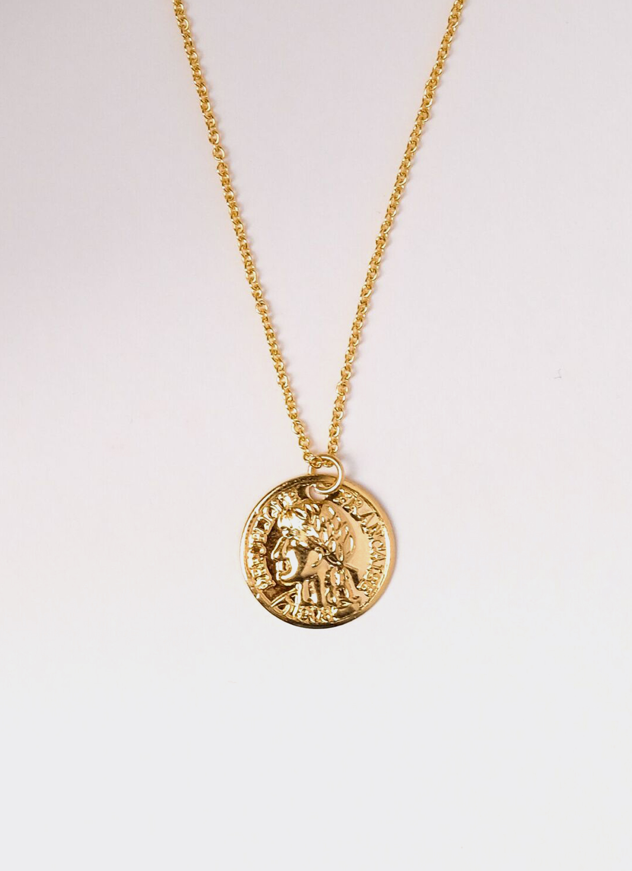 Gold French Coin Necklace, SERRA