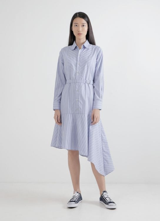 WILSEN WILLIM Blue Selvia Shirt Dress