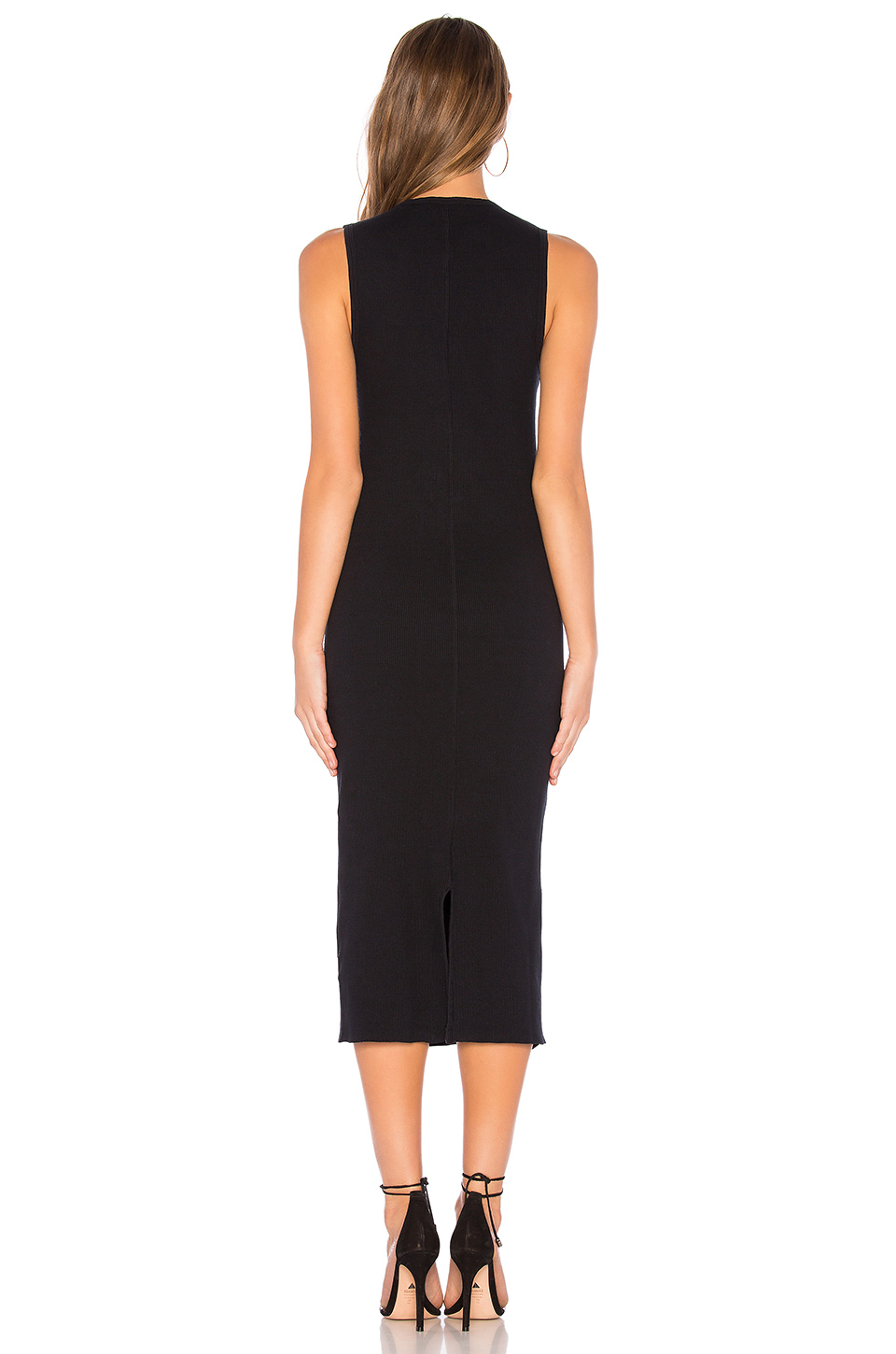 James Perse Contrast Binding Fitted Rib Dress