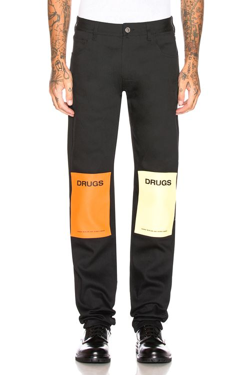 Raf Simons Regular Fit Jean with Patches