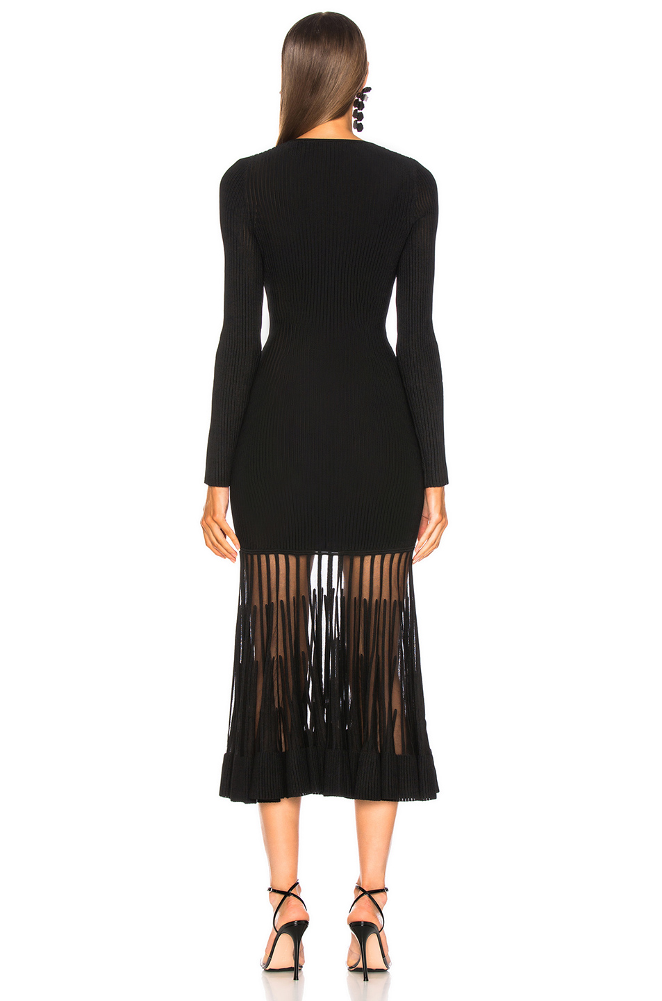 9afc43e280c9e Jual Alexander McQueen Graphic Ottoman Knit Maxi Dress - 100 ...
