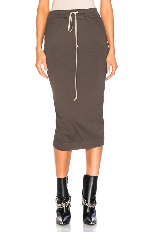 DRKSHDW by RICK OWENS Soft Short Pillar Skirt