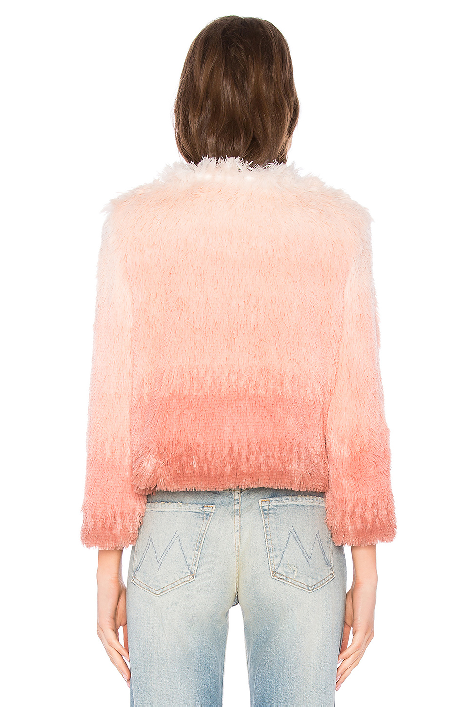 MOTHER The Faux Fur Boxy Jacket