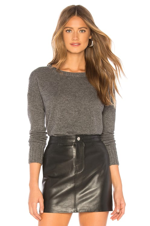BROWN ALLAN The Cropped Crew Sweater