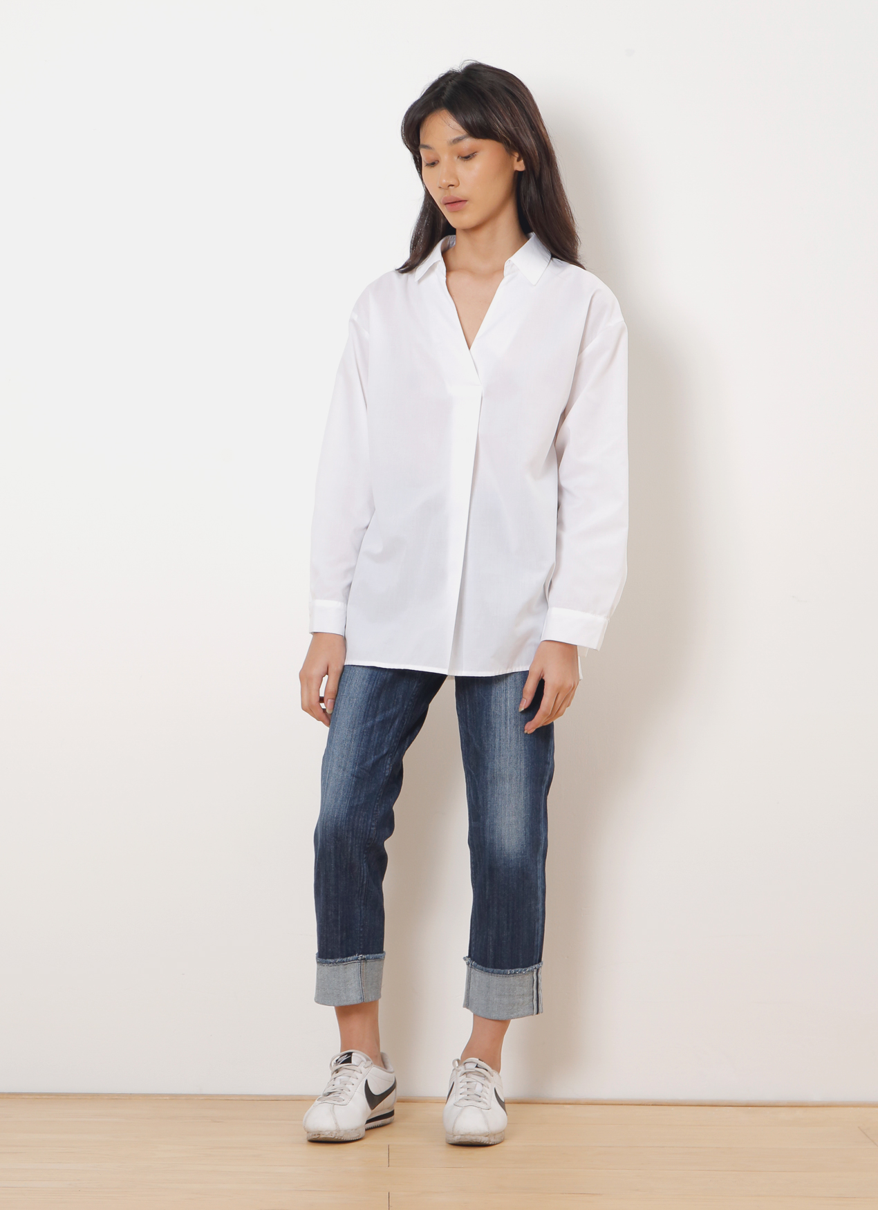 Sevendays Sunday White Barbara Longsleeve Blouse - Off White