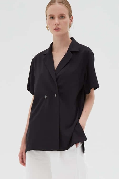 Shopatvelvet Sid top Black