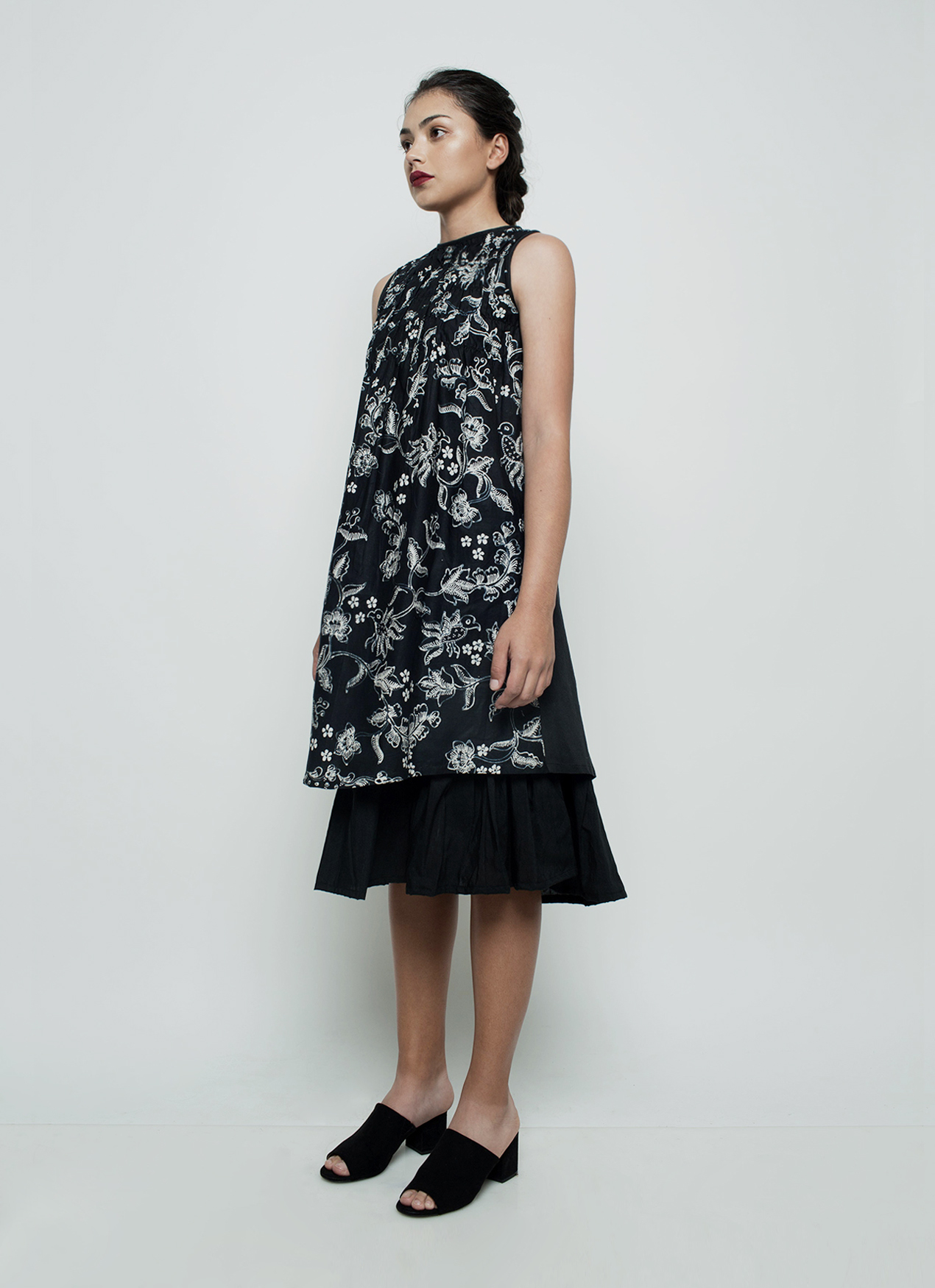 Oemah Etnik Black Rumi Batik Dress