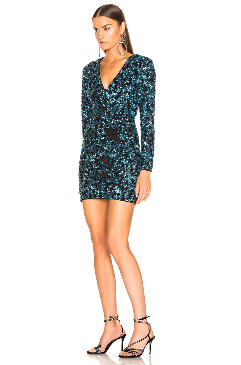 self-portrait Sequin Frill Mini Dress