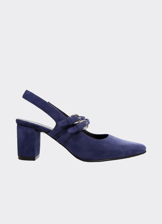 Winston Smith Blue Aleta Pump Heels