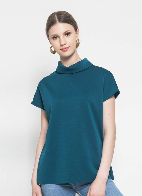 CORE ATTIRE Teal Tamara Top
