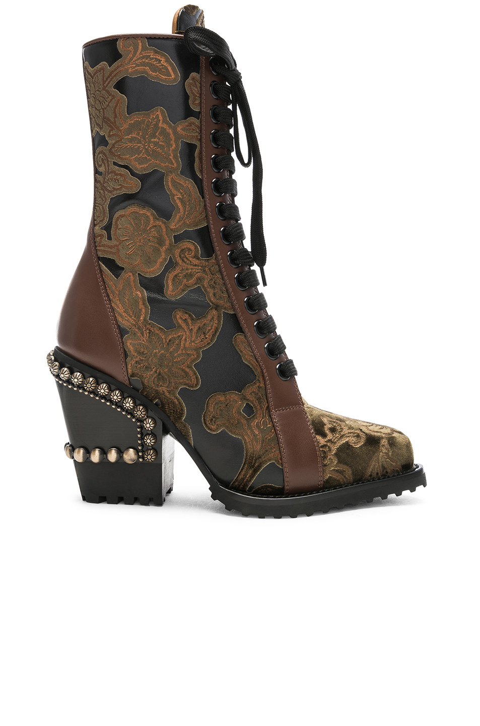 7394b639797fc Buy Original Chloe Rylee Baroque Velvet Lace Up Boots at Indonesia ...