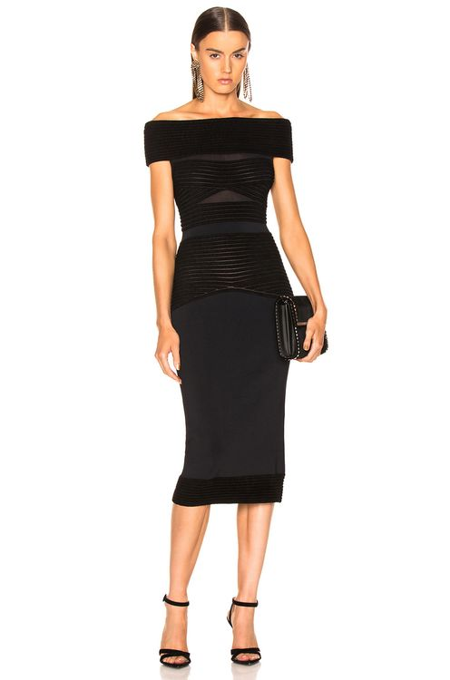 Roland Mouret Hanbury Ripple Giselle Knit Dress