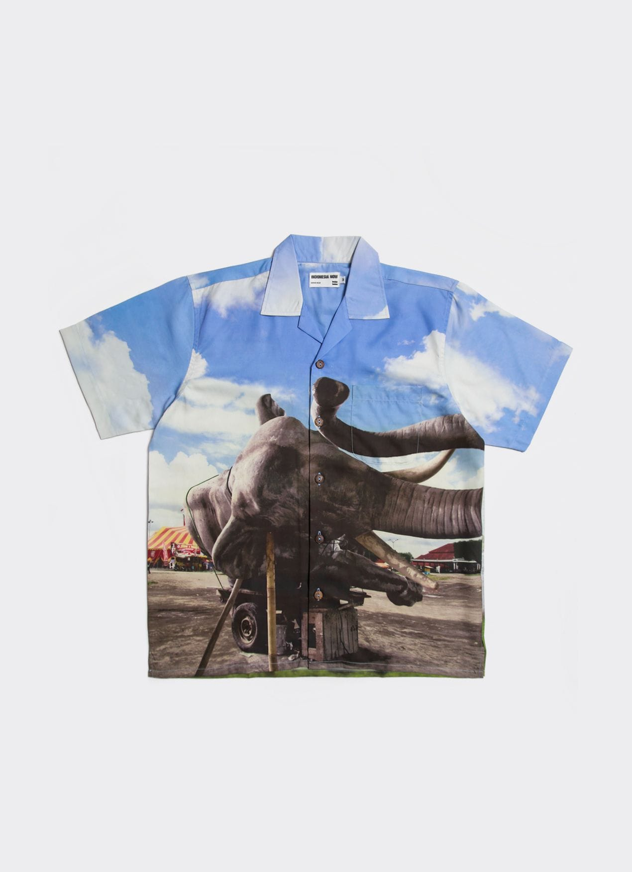 Wimo Ambala Bayang Blue Sleeping Elephant in the Axis of Yogyakarta Shirt