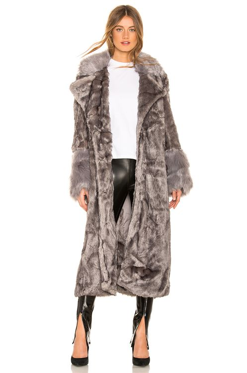 One Teaspoon Verona Faux Fur Coat
