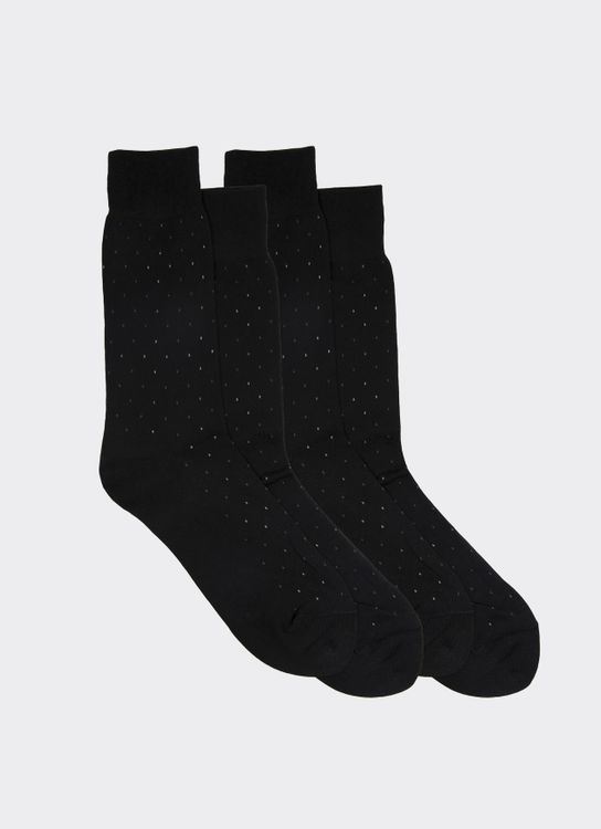 Gunze Black 10312 Socks
