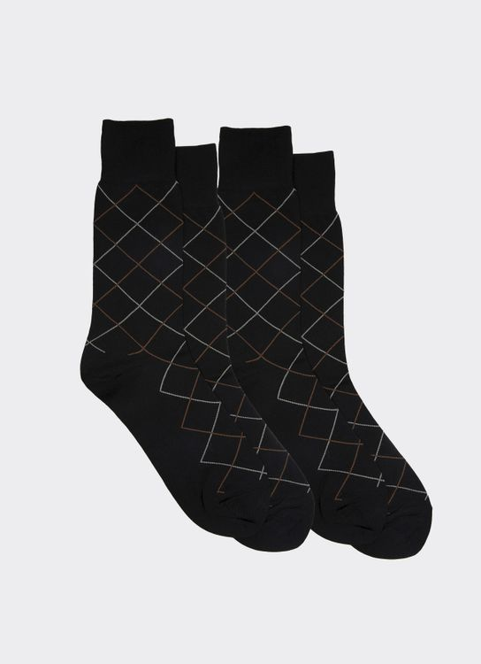 Gunze Black DA241 Socks