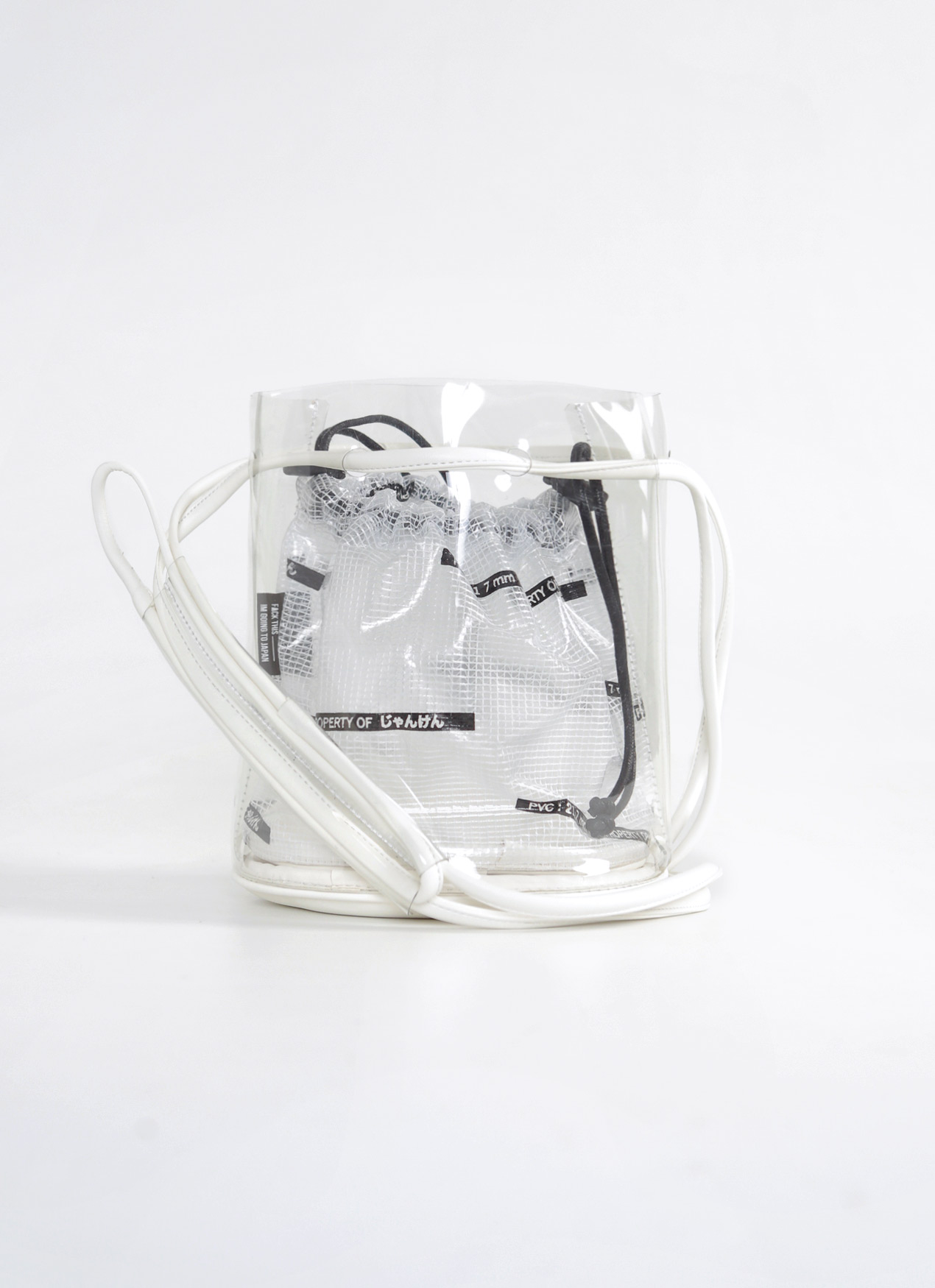 Scissors Paper Rock White J04-BUCK'IST Bucket Bag
