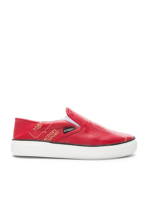 Vetements Passport Slip Ons