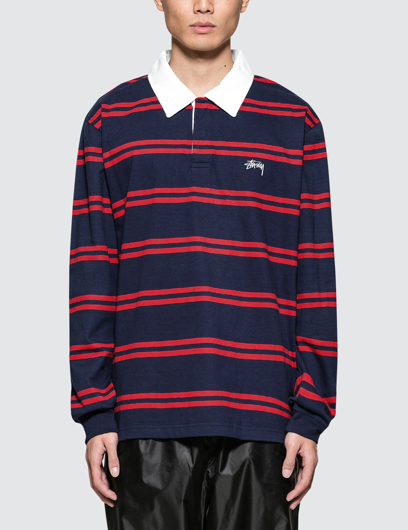 d1ae5e81d37 Buy Original Stussy Desmond Stripe L/S Rugby Jersey at Indonesia ...