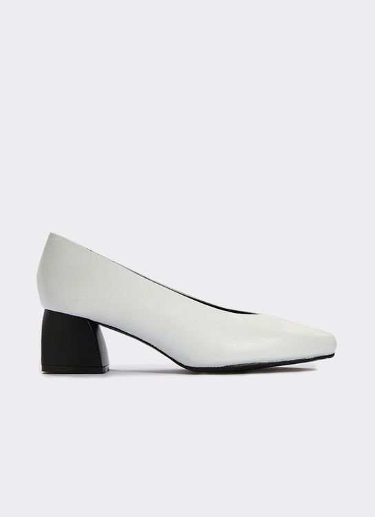 Winston Smith White Janet Mid Heel Shoes