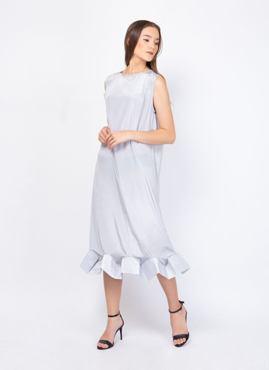 KOMMA Gray Claire Dress