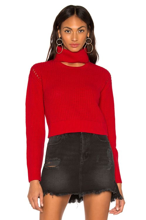 KENDALL + KYLIE Open Neck Crew Sweater