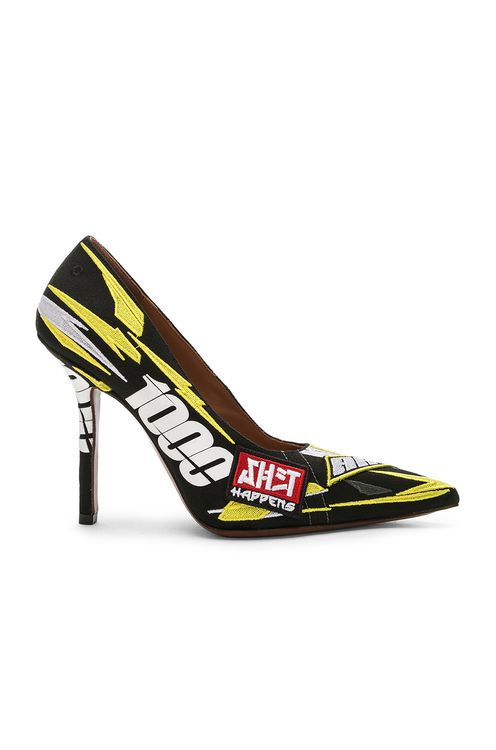 Vetements Embroidered Race Pumps