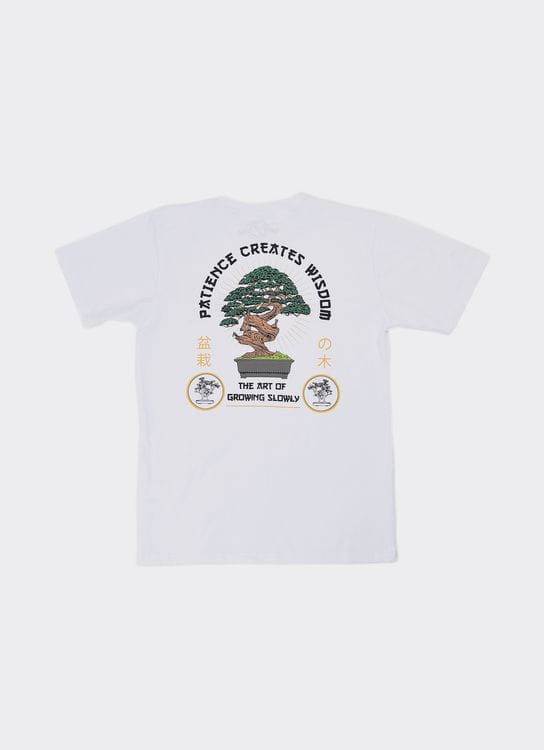 Jackhammer Co White Bonsai T-Shirt