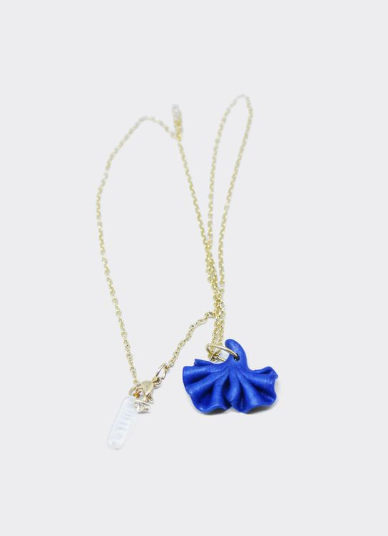 Mita Jewelry Blue Pansy Necklace