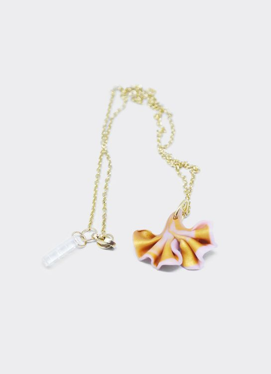 Mita Jewelry Gold Pansy Necklace