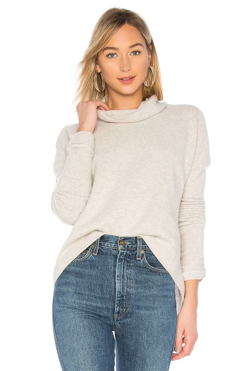 BROWN ALLAN The Draped Mock Neck Sweater