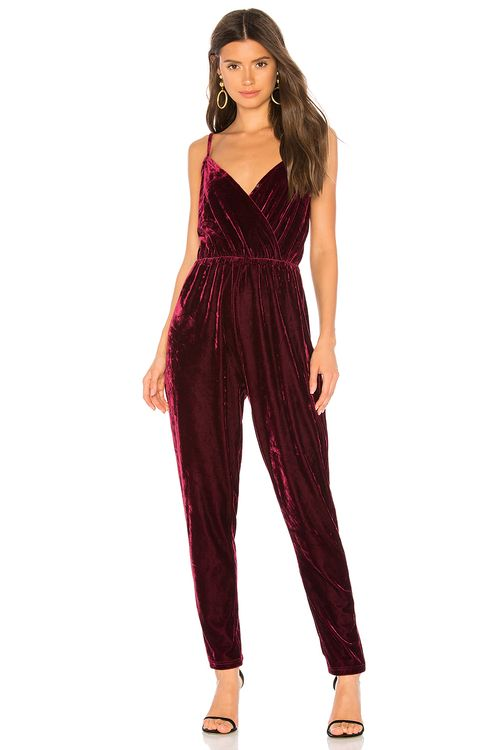cupcakes and cashmere Cameo Velvet Jumpsuit