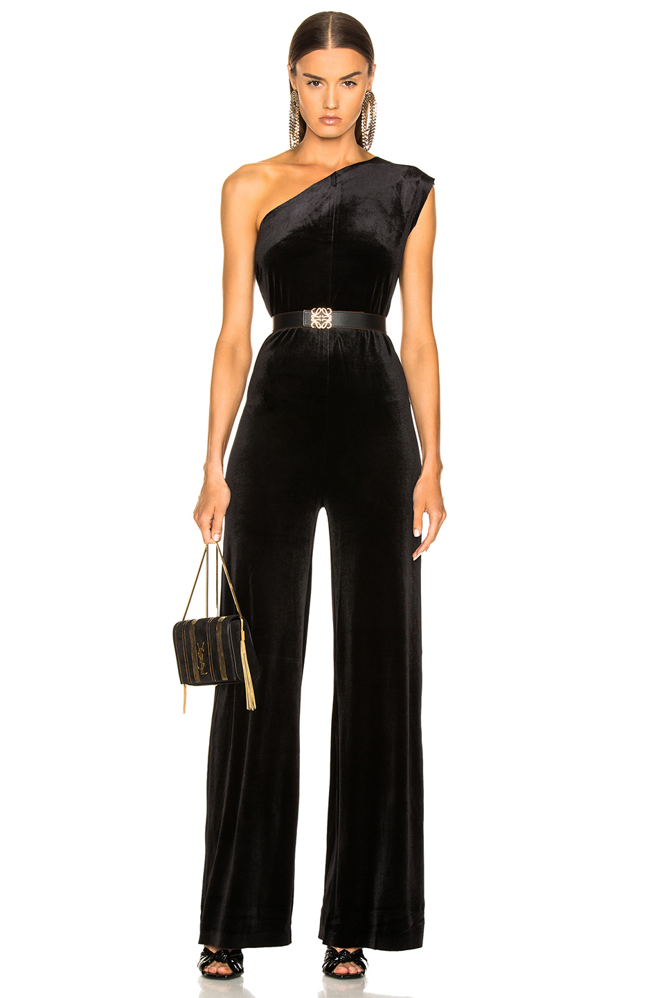 185675318964 Buy Original Norma Kamali One Shoulder Velvet Jumpsuit at Indonesia ...