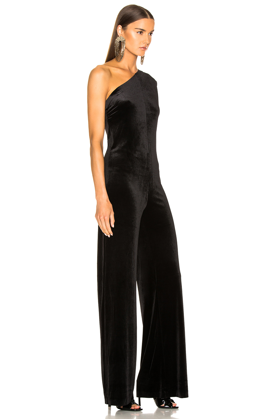 e125266cc8b9 Buy Original Norma Kamali One Shoulder Velvet Jumpsuit at ...