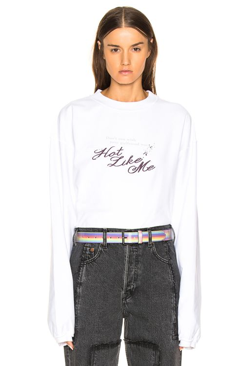 Vetements Inside Out Long Sleeve Graphic Tee